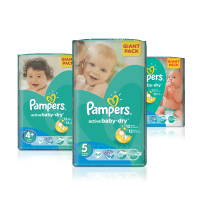 Подгузники Pampers Active baby-dry, 1упак.