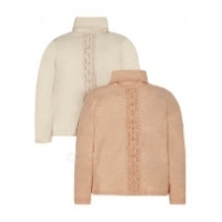 Peach and Cream Roll Necks - 2 Pack