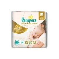 Подгузники Pampers Premium Care Econom newborn (2-5 кг) 88 шт