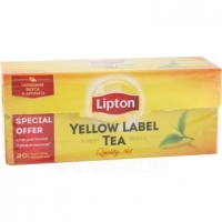Чай черный Yellow Label «Lipton» 20 × 2 г
