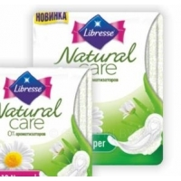 Прокладки Libresse Natural Care Ultra, 9-10шт