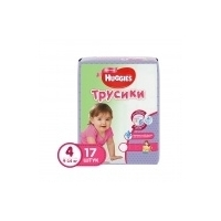 Подгузники-трусики Huggies Little Walkers Small Little Walkers Girl 4 (9-14 кг) (17 шт)