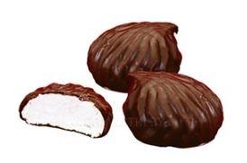 Зефир ванильный в шоколаде вес.
