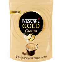 "Кофе растворимый ""Nescafe"" Gold Crema, 70 г."