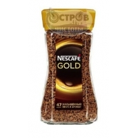 Кофе натуральный растворимый сублимированный NESCAFE GOLD, 95 г
