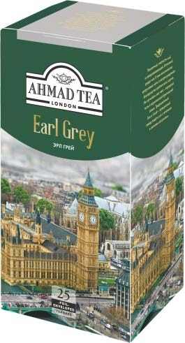 Чай Ahmad Tea Earl Grey, 25 пак.