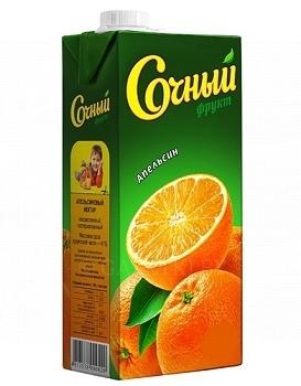 Нектар Сочный фрукт Апельсин 1л