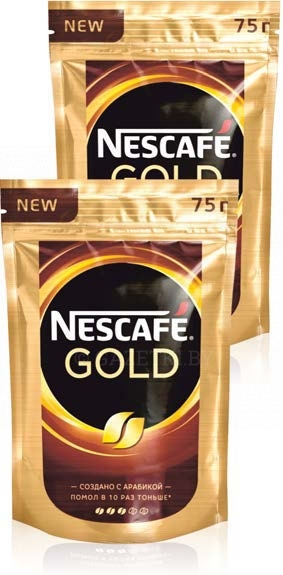 1+1 Кофе Nescafe Gold раств. 75 г