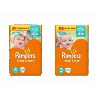 Подгузники Pampers Sleep & Play Maxi 8-14 кг 86шт./Памперс Sleep&Play миди (4-9 кг) 100шт SuperStar