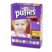 Подгузники Pufies Junior 5 (11-20 кг), 14 шт