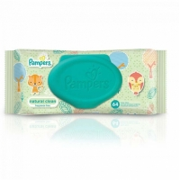 PAMPERS Natural Clean Салфетки влажные детские, 64 шт.