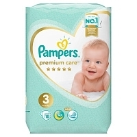 Подгузники Pampers Premium Care Midi (6-10 кг) 18 шт