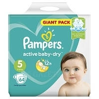 Подгузники Pampers Active Baby Giga Junior (11-16 кг) 64 шт