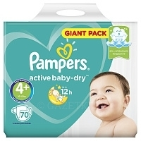 Подгузники Pampers Active Baby Giga Maxi plus (10-15 кг) 70 шт