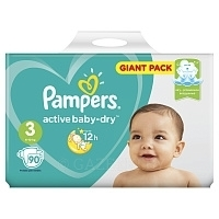 Подгузники Pampers Active Baby Giga Midi (6-10 кг) 90 шт