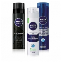 NIVEA For Men Гель для бритья, 200 мл