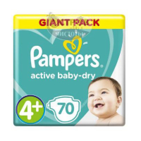 Подгузники Pampers Active Baby-Dry Maxi 4+ (10-15 кг), 70 шт