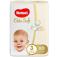 Подгузники Huggies Elite Soft Mega 3 (5-9 кг) 80 шт