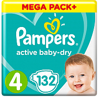 Подгузники Pampers Active Baby-Dry 4 Maxi (132шт)