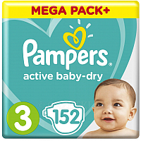 Подгузники Pampers Active Baby-Dry 3 Midi (152шт)