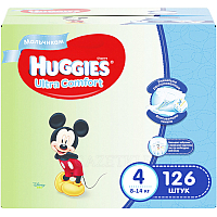 Подгузники Huggies Ultra Comfort 4 Disney Boy (126шт)