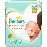 Подгузники Pampers Premium Care 1 Newborn (72шт)