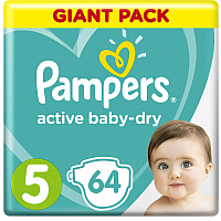 Подгузники Pampers Active Baby-Dry 5 Junior (64шт)