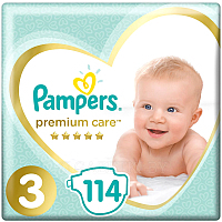 Подгузники Pampers Premium Care 3 Midi (114шт) код 642.945