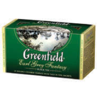 Чай черный GREENFIELD, earl grey fantasy, 25 пакетиков x 2 г