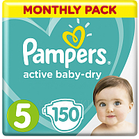 Подгузники Pampers Active Baby-Dry 5 Junior (150шт)