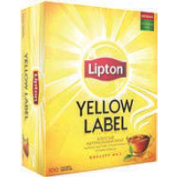 1+1 Чай черный LIPTON, yellow label, 100 пакетиков х 2 г