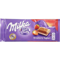 Шоколад молочный Milka Strawberry клубника 100 г