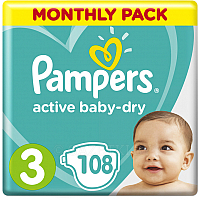 Подгузники Pampers Active Baby-Dry 3 Midi (108шт)