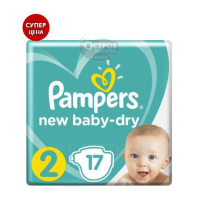 Подгузники PAMPERS New Baby-Dry (4-8 кг), 17 шт