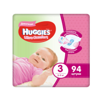 Подгузники Huggies Ultra Comfort Giga Girl 3 (5-9 кг) 94 шт
