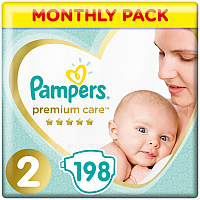 Подгузники Pampers Premium Care 2 Mini (198шт)
