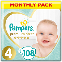 Подгузники Pampers Premium Care 4 Maxi (108шт)