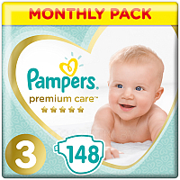 Подгузники Pampers Premium Care 3 Midi (148шт)