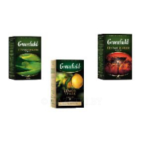 Чай черный Greenfield Kenyan Sunrise 100г/Чай черный Greenfield Lemon Spark 100г/Чай зеленый Greenfield Flying Dragon 100г
