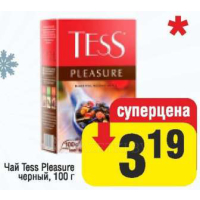 Чай Tess Pleasure черн., 100 г