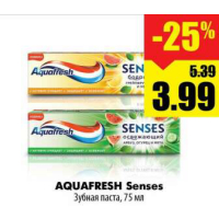 AQUAFRESH Senses Зубная паста, 75 мл